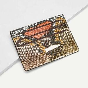 Snakeskin Card Holder (Faux Leather)